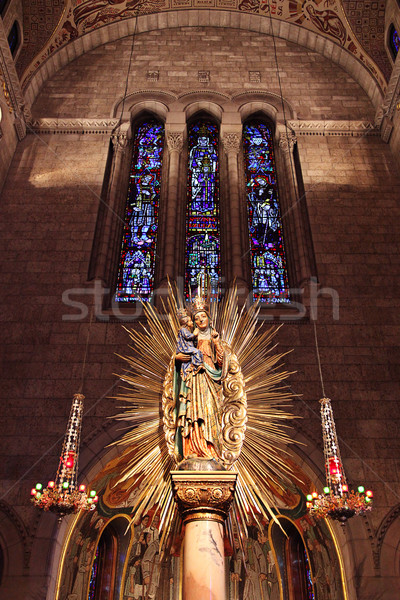 Interior view of church in Quebec, Canada Stock photo © melking