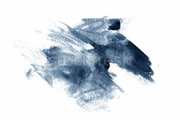 Blauw abstract verf witte papier ontwerp Stockfoto © melking