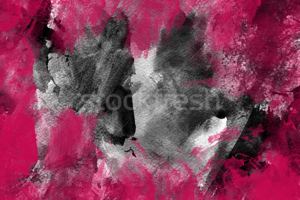 Pink grunge paint background Stock photo © melking