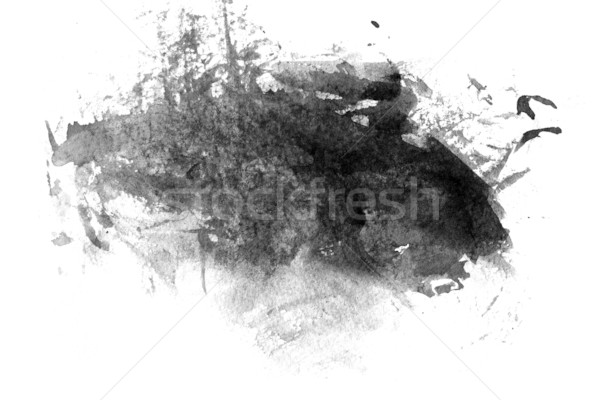 Black abstract paint Stock photo © melking