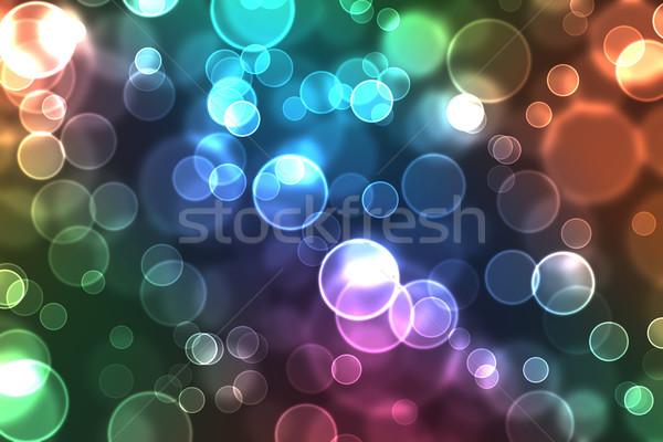 аннотация Круги красочный свет дизайна Сток-фото © melking