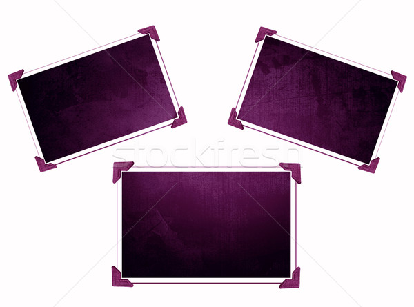 Three Photo frames isolated on white with texture Stock photo © melking