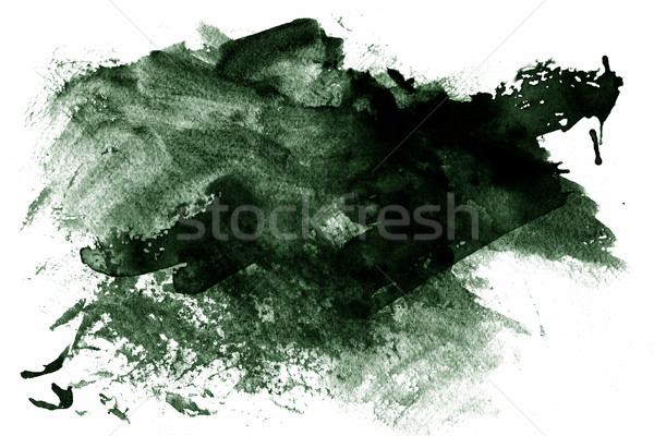 Green abstract paint Stock photo © melking