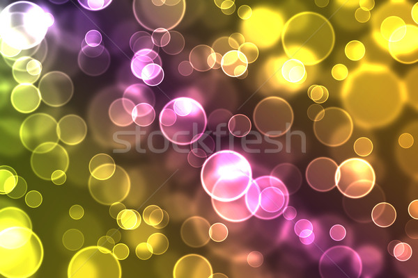 abstract glowing circles on a colorful background Stock photo © melking