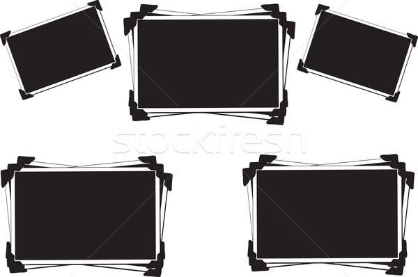 Collection of Blank Pictures with photo corners Stock photo © melking