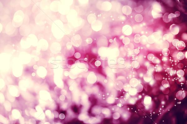 Magenta színes absztrakt fényes fény csillámlás Stock fotó © Melpomene