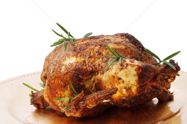 Holiday Roast Chicken Stock photo © Melpomene