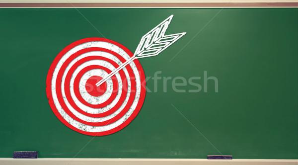 Target on chalkboard Stock photo © Melpomene