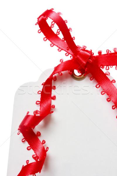 Price Tag with Red Ribbon Stock photo © Melpomene