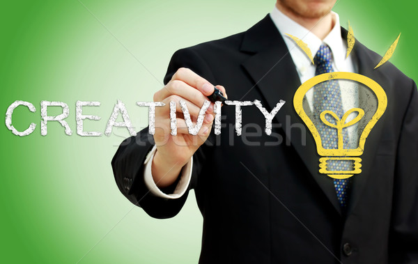 Businessman with Creativity Concept Stock photo © Melpomene