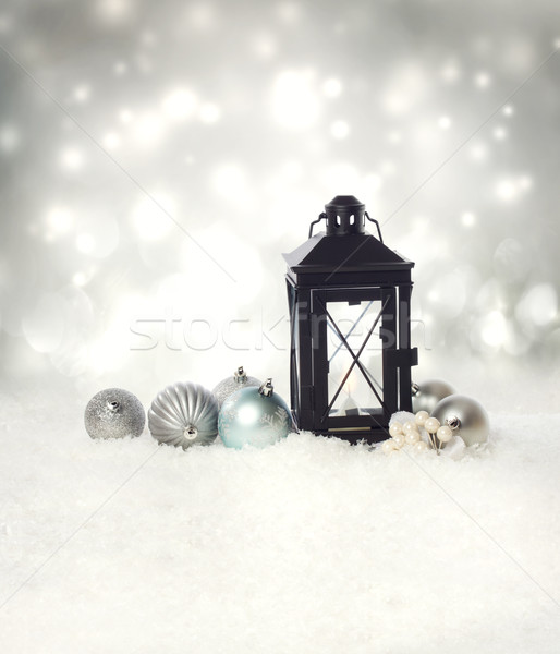 Christmas lantern with ornaments  Stock photo © Melpomene