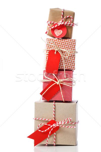 Stack of handcraft gift boxes Stock photo © Melpomene