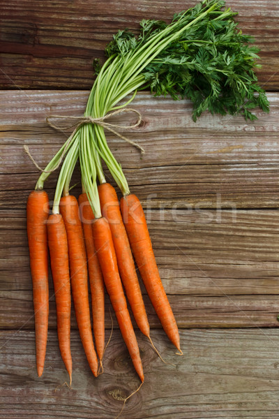 Organic carrots Stock photo © Melpomene