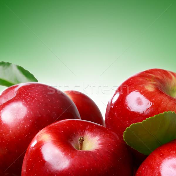 Taze elma yeşil yumuşak gıda elma Stok fotoğraf © Melpomene