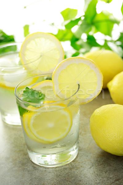 Cold lemon water  Stock photo © Melpomene