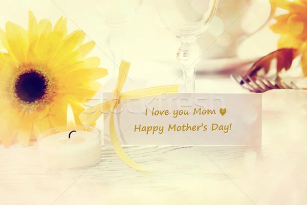 Mesaj kart anneler gün tablo Stok fotoğraf © Melpomene