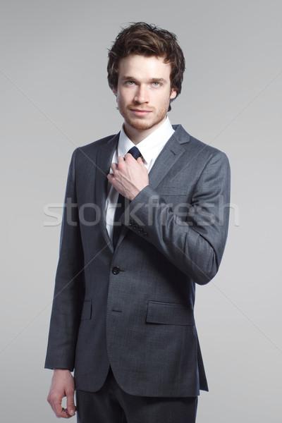 スタイリッシュ 男 小さな ビジネスマン ストックフォト © Melpomene