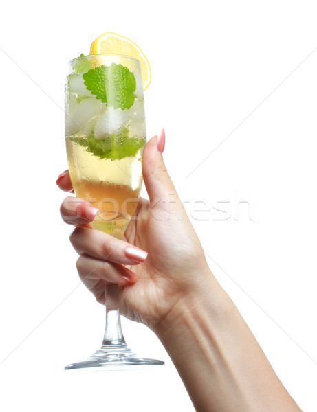 Woman holding a Champange Glass  Stock photo © Melpomene