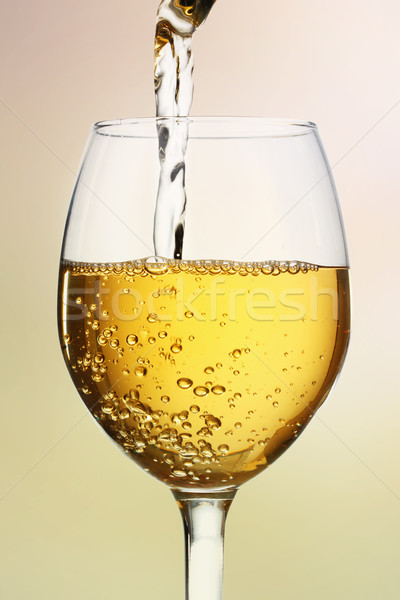 Wine Glass with White Wine Stock photo © Melpomene