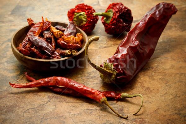 Assortment of chili peppers    Stock photo © Melpomene