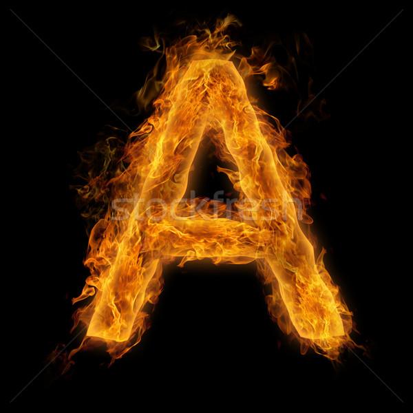 Flaming Letter A Stock photo © Melpomene