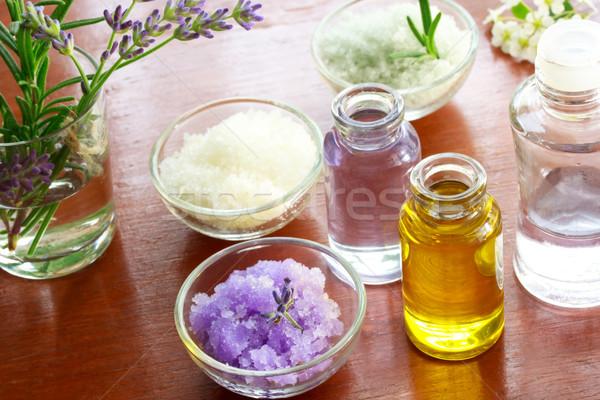 Bath salt with aromatherapy oil Stock photo © Melpomene