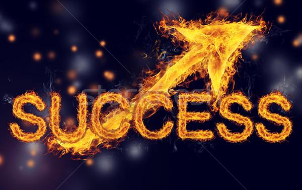 Ateşli başarı oklar karanlık mavi siyah Stok fotoğraf © Melpomene