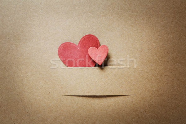 Small paper cut red hearts Stock photo © Melpomene