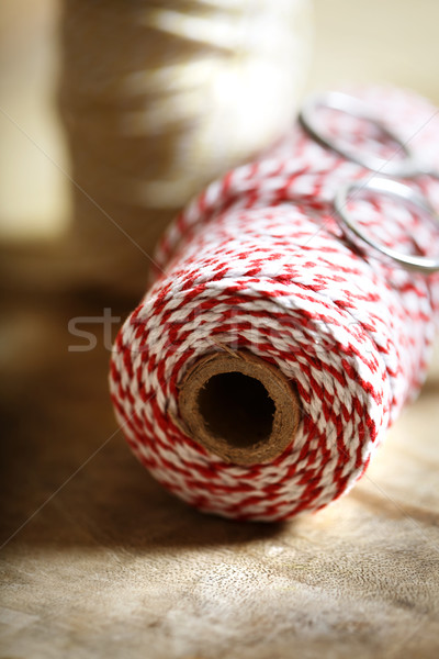 Spool of red and white twine  Stock photo © Melpomene