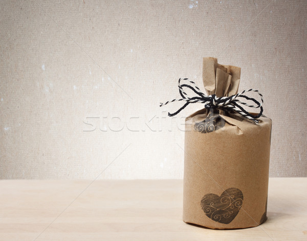 Presents wraped in a rustic earthy style  Stock photo © Melpomene