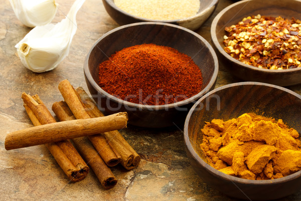 Assortment of spices  Stock photo © Melpomene