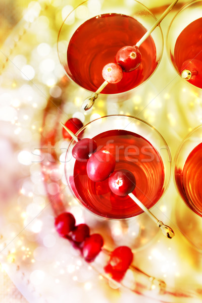 Holiday Cocktails Stock photo © Melpomene