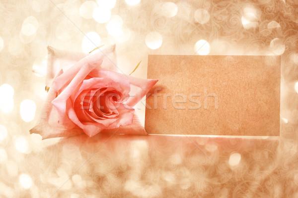 Stock fotó: Klasszikus · rózsa · üzenet · kártya · absztrakt · fény