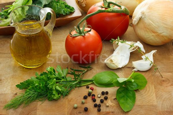 Italian ingredients Stock photo © Melpomene
