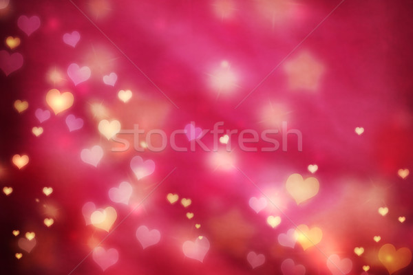 Stock photo: Small hearts background
