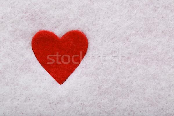 Felt heart Stock photo © Melpomene