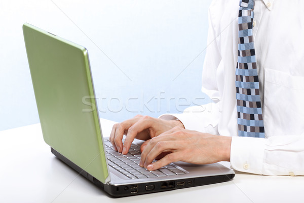 Man with Laptop Stock photo © Melpomene