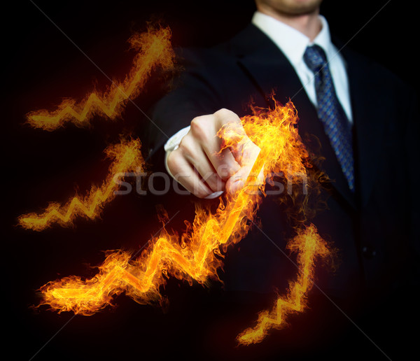 Man with Fiery Arrows Stock photo © Melpomene