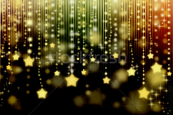 Stock photo: Stars on abstract background