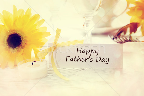 Happy Fathers Day Message Card Stock photo © Melpomene