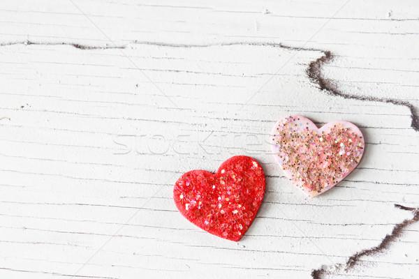 Handcraft hearts Stock photo © Melpomene