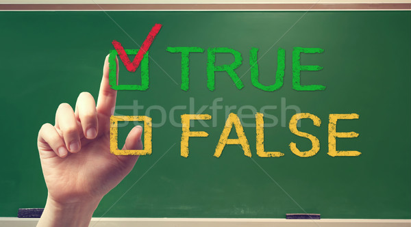TRUE or FALSE checkbox with hand Stock photo © Melpomene