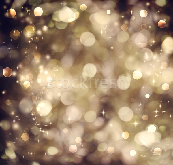 Stock photo: Golden brown abstract light background