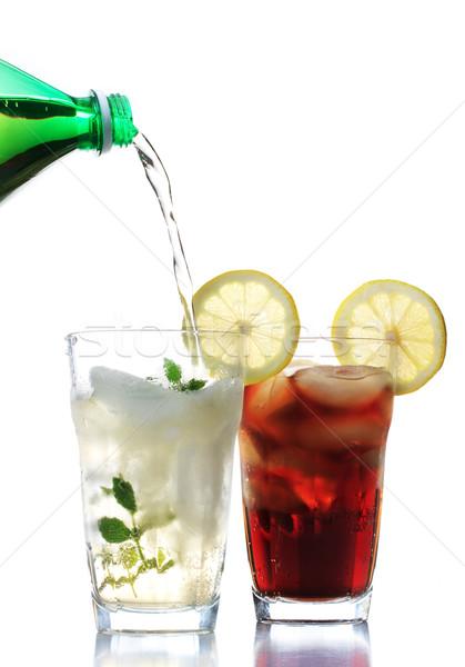 Koud gember ale cola bril Stockfoto © Melpomene