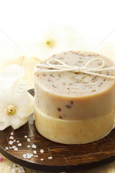 Natuurlijke handgemaakt zeep bloemen bloem Stockfoto © Melpomene