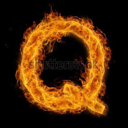 Flaming Letter C Stock photo © Melpomene