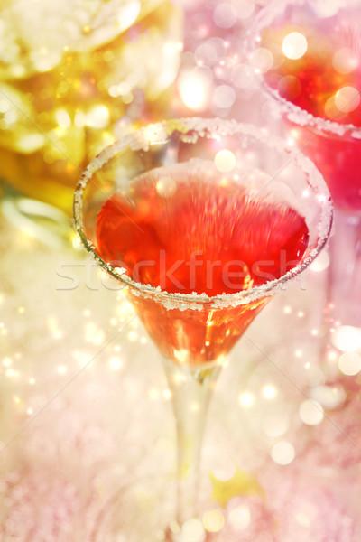 Red cocktail with salt Stock photo © Melpomene