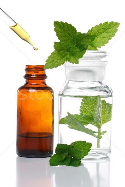 Herbal medicine or aromatherapy dropper bottle Stock photo © Melpomene