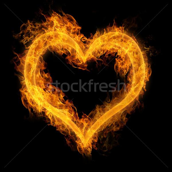 Heart made of fire Stock photo © Melpomene