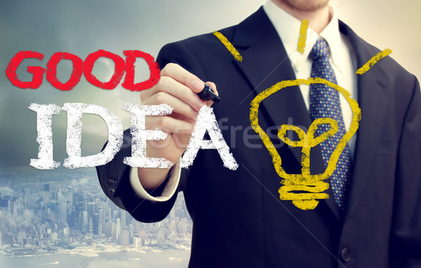 Businessman with a Good Idea Stock photo © Melpomene